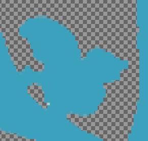 GIMP塗りつぶした後