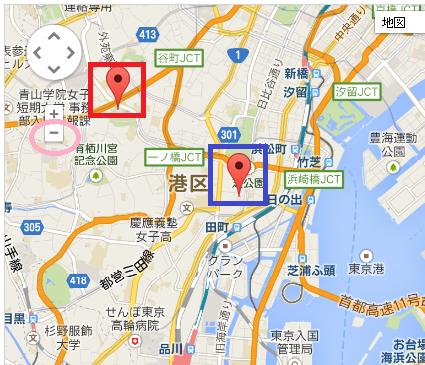 挿入した地図